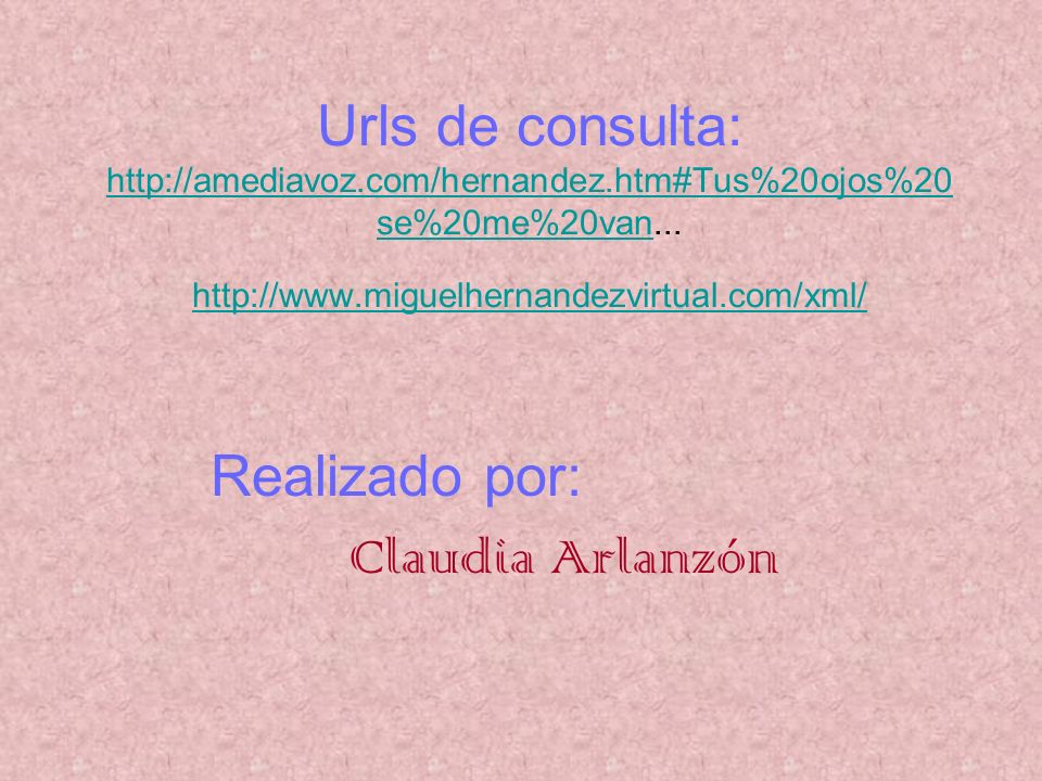 Realizado por: Claudia Arlanzón
