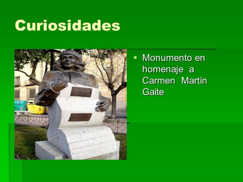 Curiosidades Monumento en homenaje a Carmen Martín Gaite