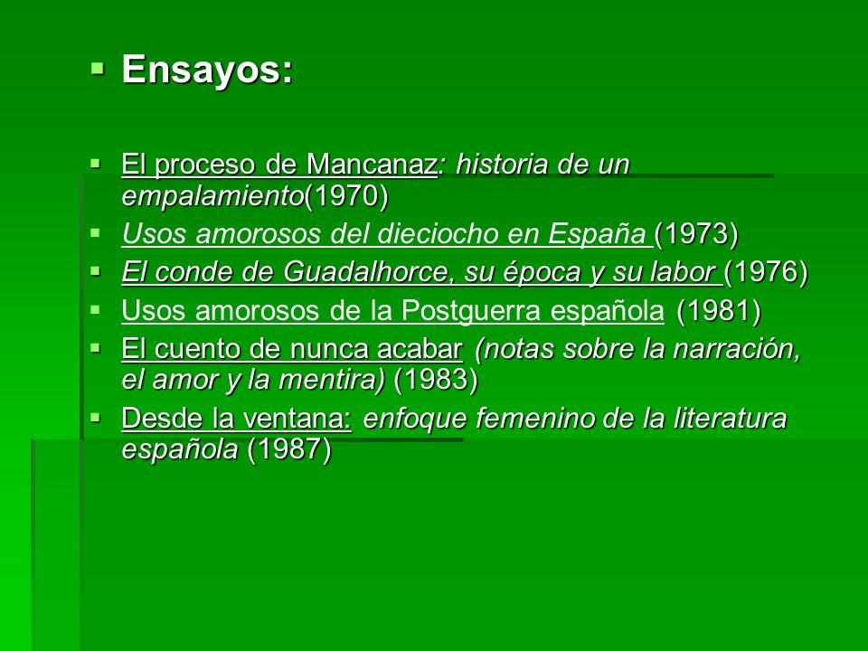 Ensayos: El proceso de Mancanaz: historia de un empalamiento(1970)