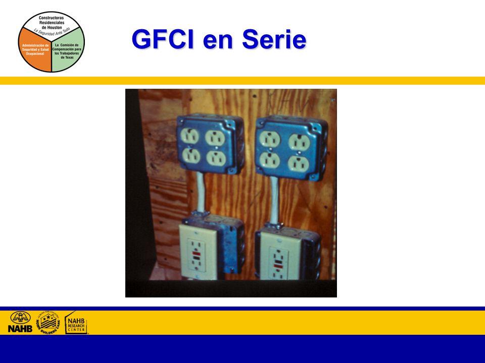 GFCI en Serie Tomas adicionales están protegidas con GFCI al conectarse en serie.