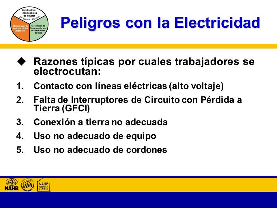 Peligros con la Electricidad