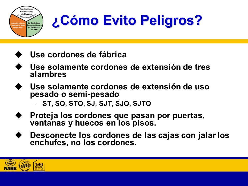 ¿Cómo Evito Peligros Use cordones de fábrica