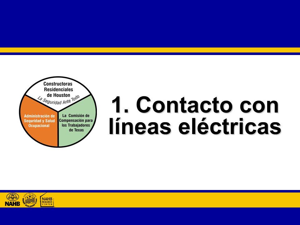 1. Contacto con líneas eléctricas