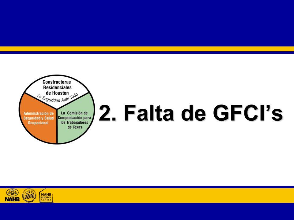 2. Falta de GFCI's