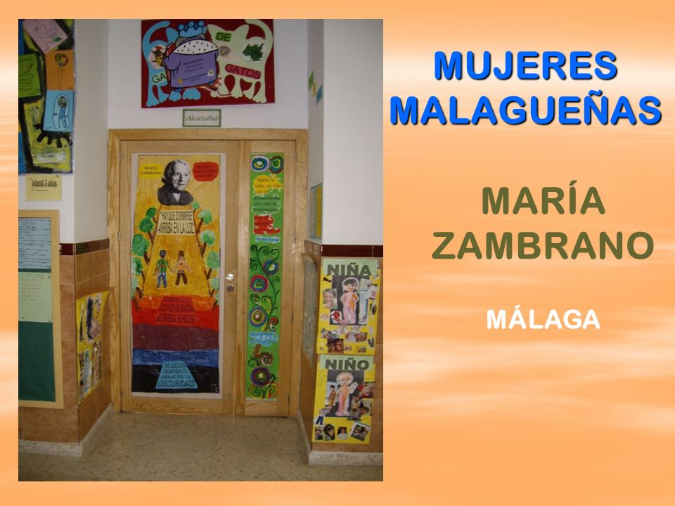 MUJERES MALAGUEÑAS MARÍA ZAMBRANO