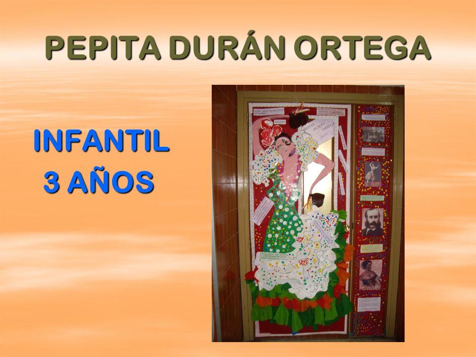 PEPITA DURÁN ORTEGA INFANTIL 3 AÑOS