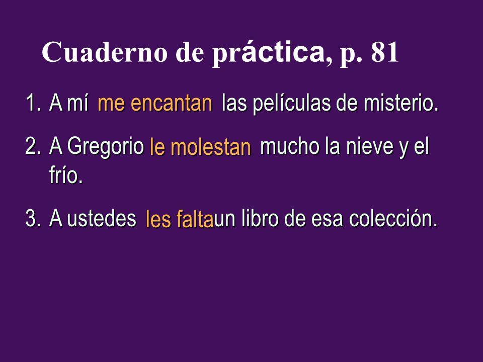 Cuaderno de práctica, p. 81 A mí las películas de misterio.