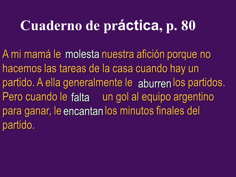Cuaderno de práctica, p. 80
