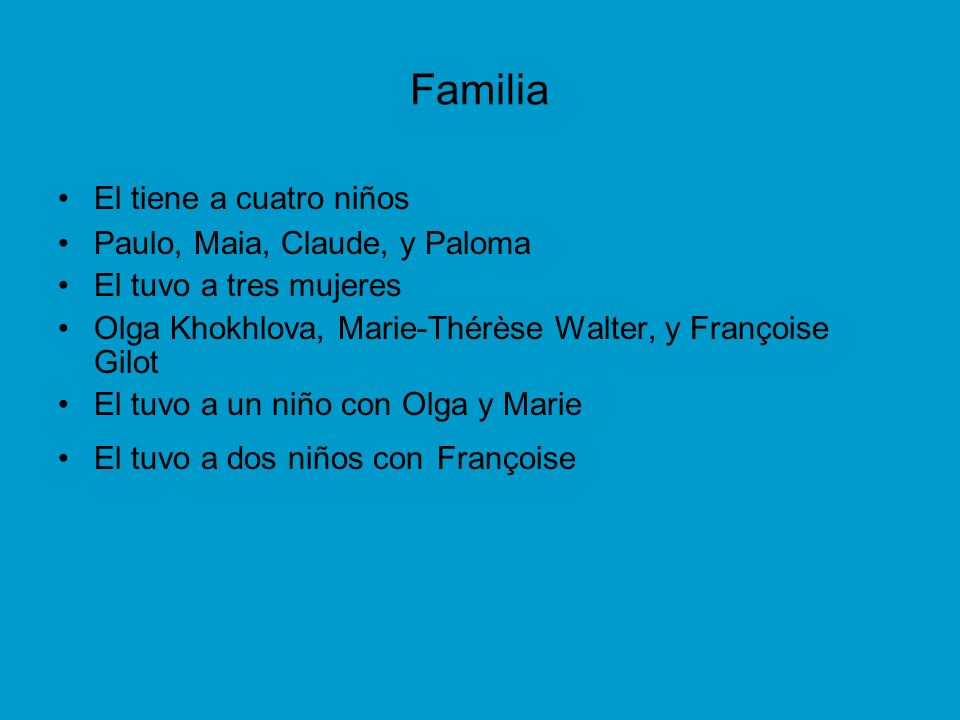 Familia El tiene a cuatro niños Paulo, Maia, Claude, y Paloma