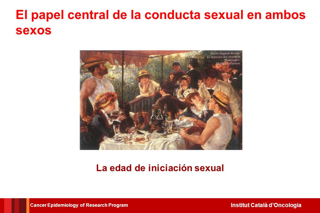 El papel central de la conducta sexual en ambos sexos