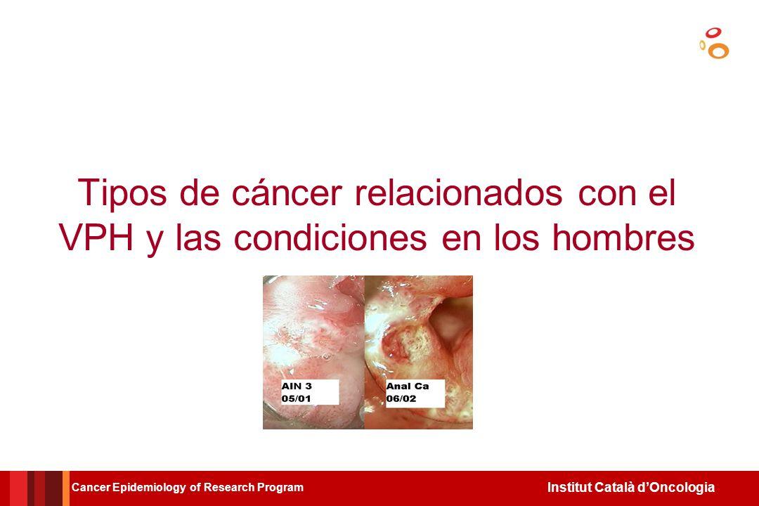 Tipos de cáncer relacionados con el VPH y las condiciones en los hombres