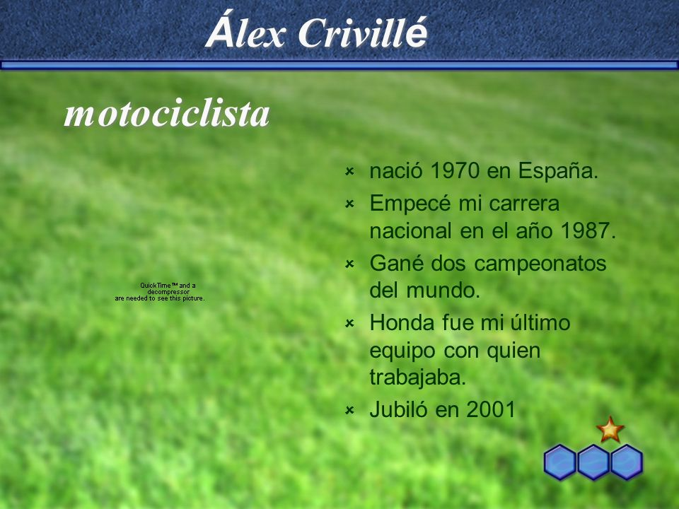 Álex Crivillé motociclista nació 1970 en España.