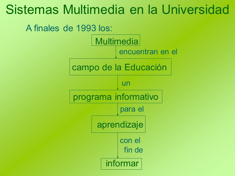 Sistemas Multimedia en la Universidad