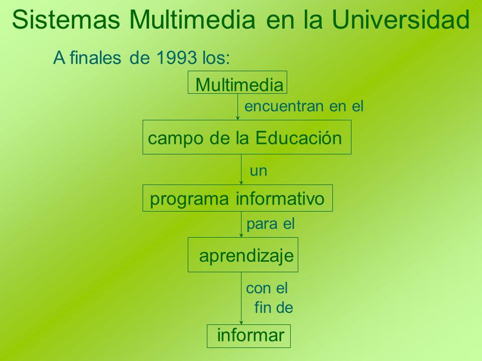 Sistemas Multimedia en la Universidad