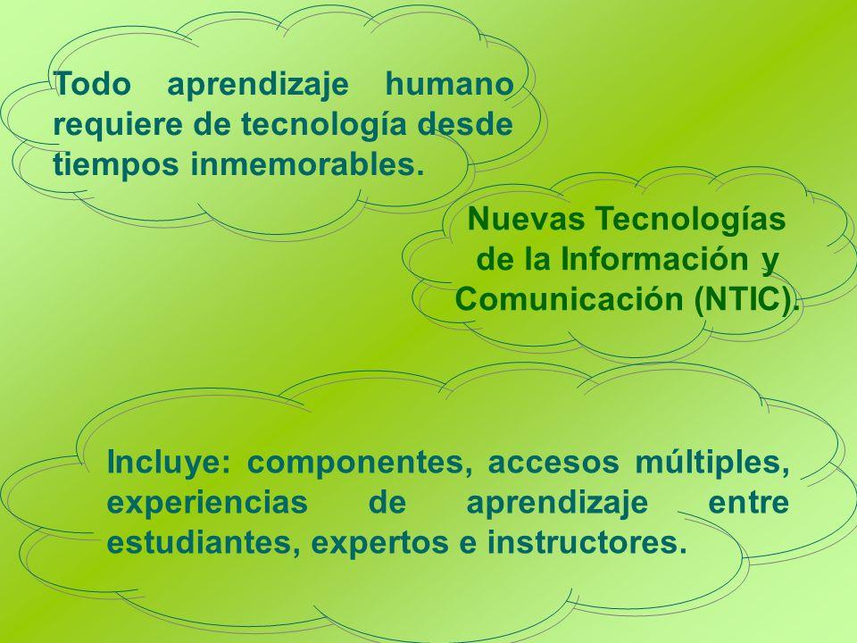 Nuevas Tecnologías de la Información y Comunicación (NTIC).