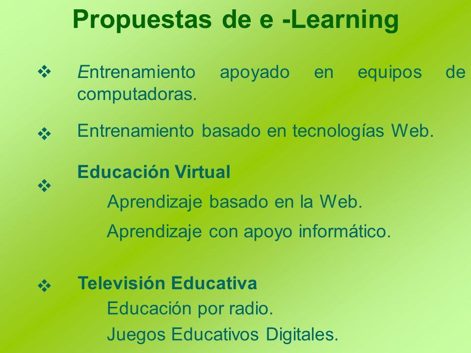 Propuestas de e -Learning