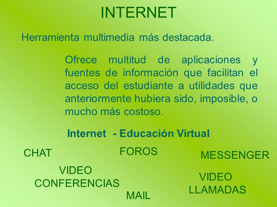 Internet - Educación Virtual