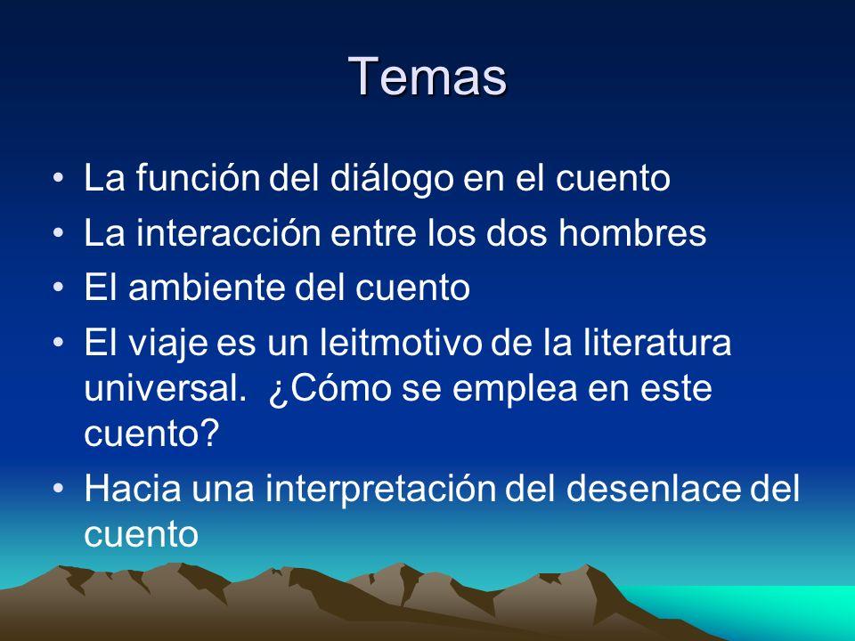 Temas La función del diálogo en el cuento