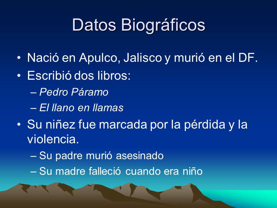 Datos Biográficos Nació en Apulco, Jalisco y murió en el DF.