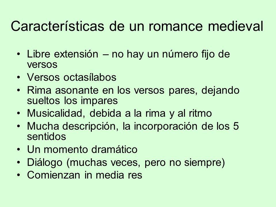 Características de un romance medieval