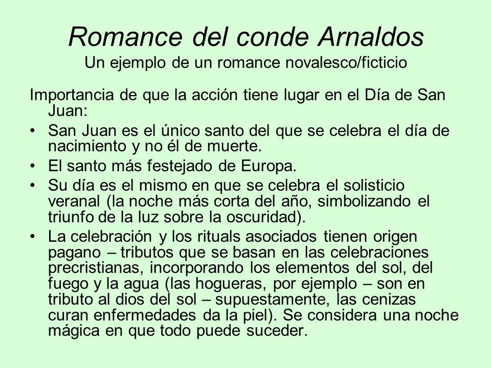 Romance del conde Arnaldos Un ejemplo de un romance novalesco/ficticio
