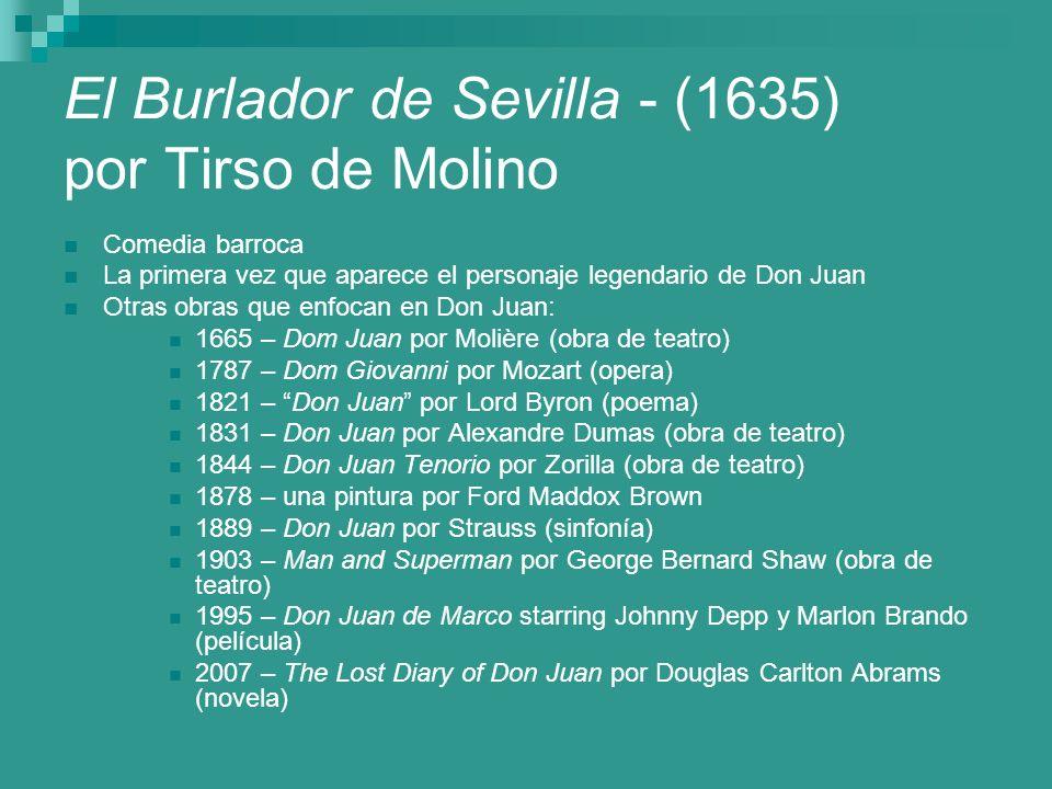 El Burlador de Sevilla - (1635) por Tirso de Molino