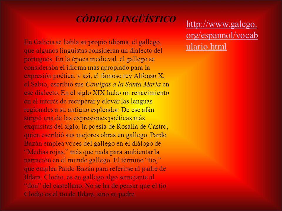 CÓDIGO LINGÜÍSTICO http://www.galego.org/espannol/vocabulario.html
