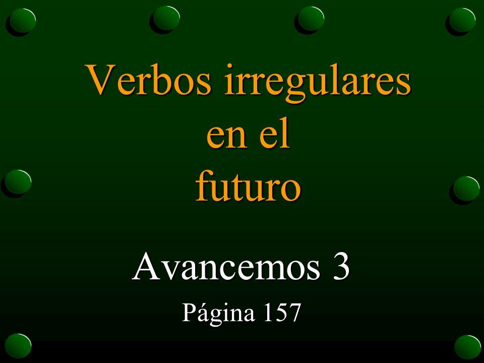 Verbos irregulares en el futuro