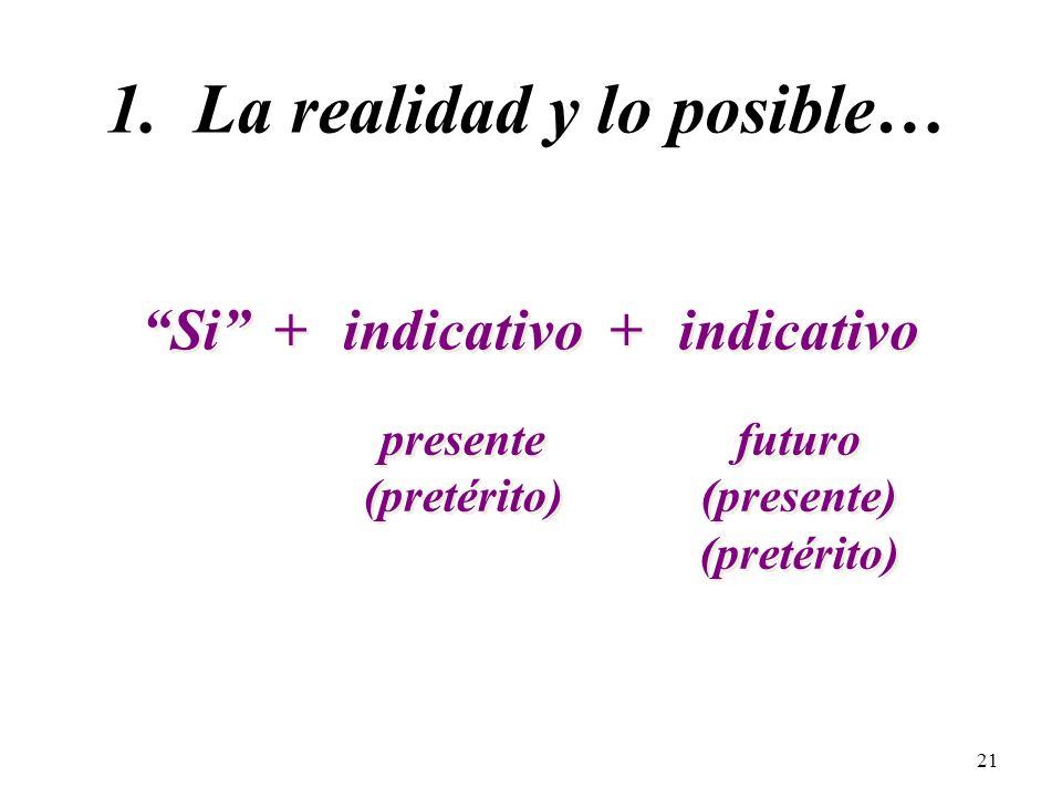 1. La realidad y lo posible…