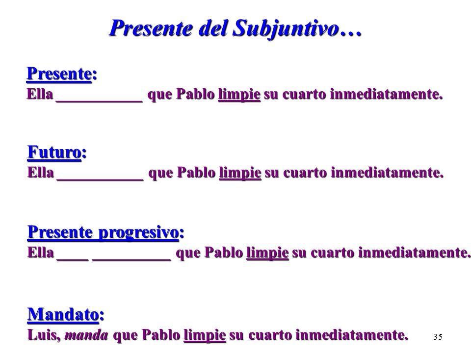Presente del Subjuntivo…