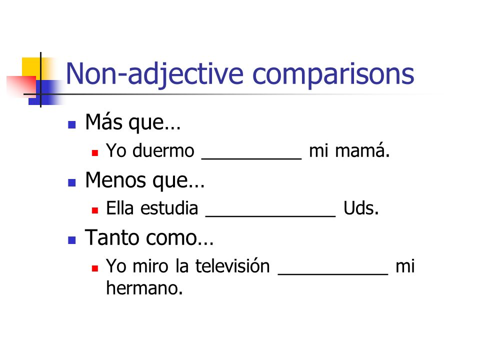 Non-adjective comparisons
