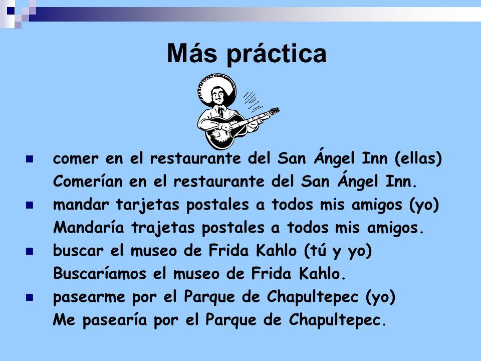 Más práctica comer en el restaurante del San Ángel Inn (ellas)
