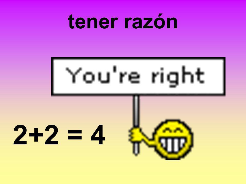 tener razón 2+2 = 4