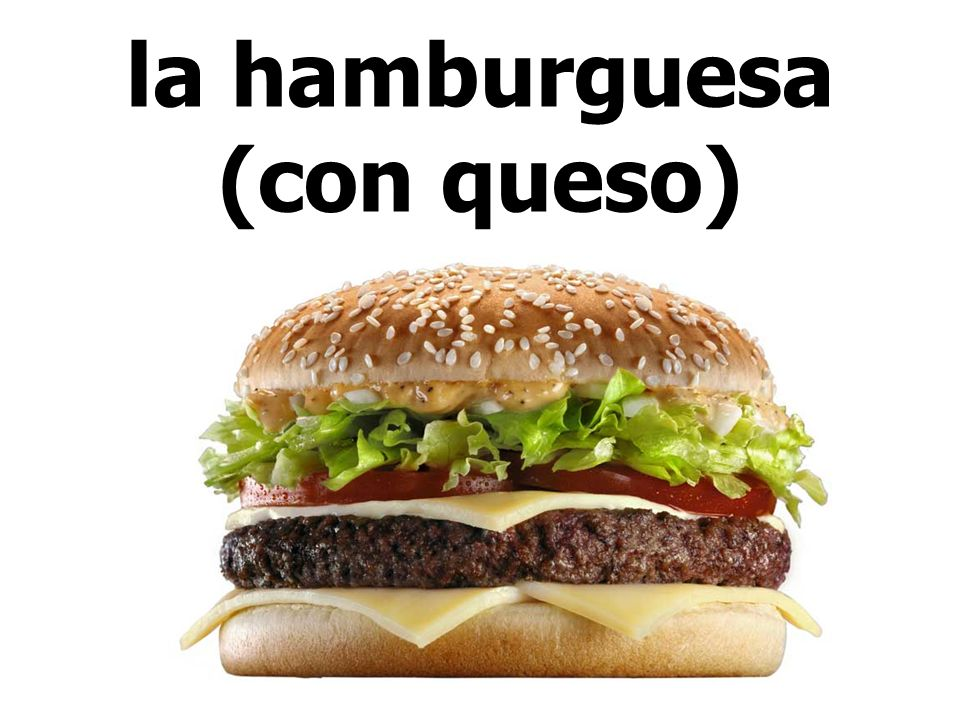 la hamburguesa (con queso)