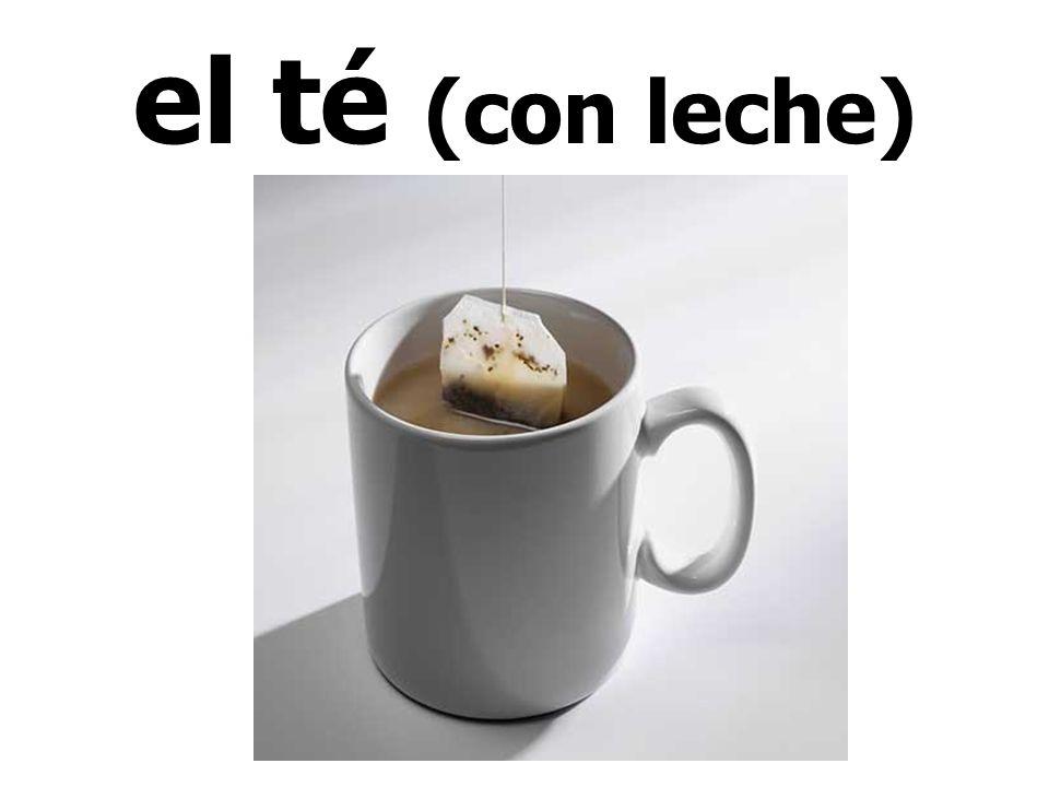 el té (con leche)
