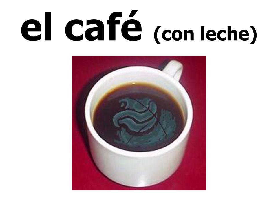 el café (con leche)