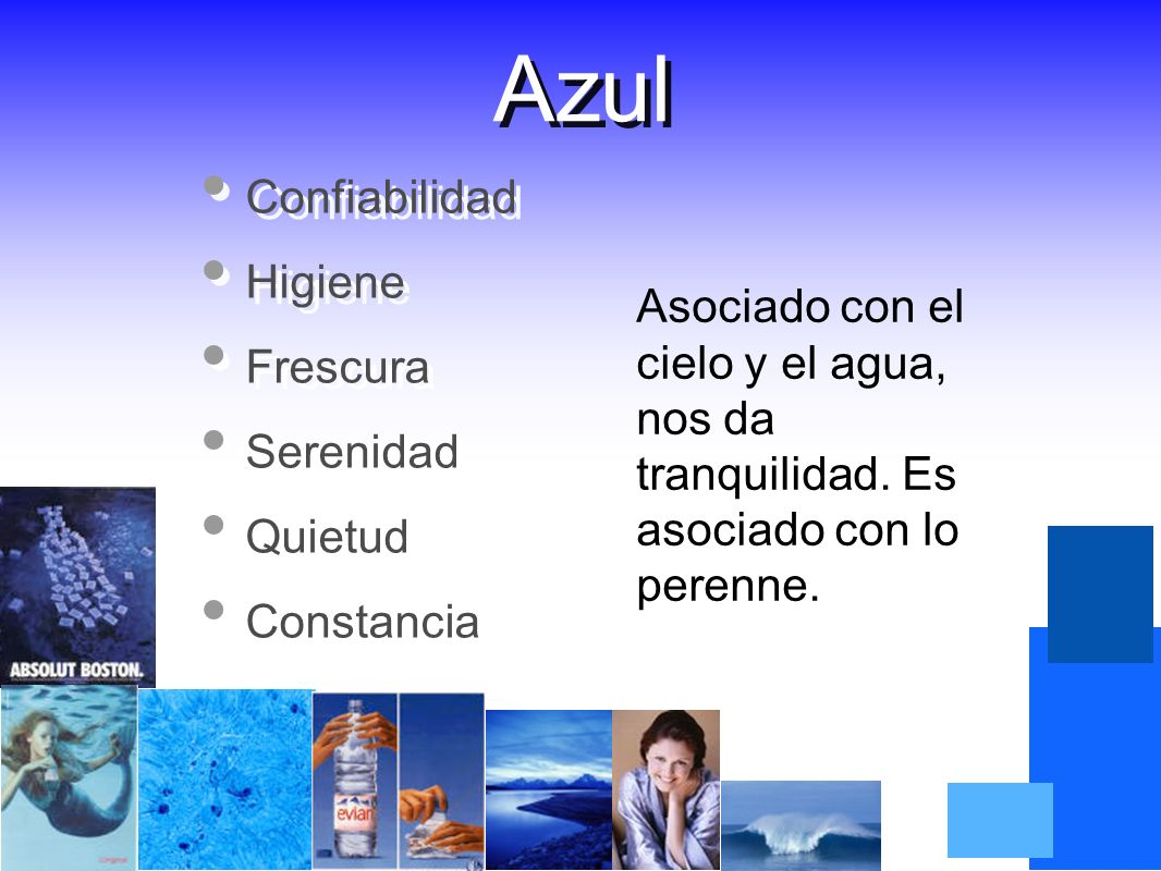 Azul Confiabilidad Higiene Frescura