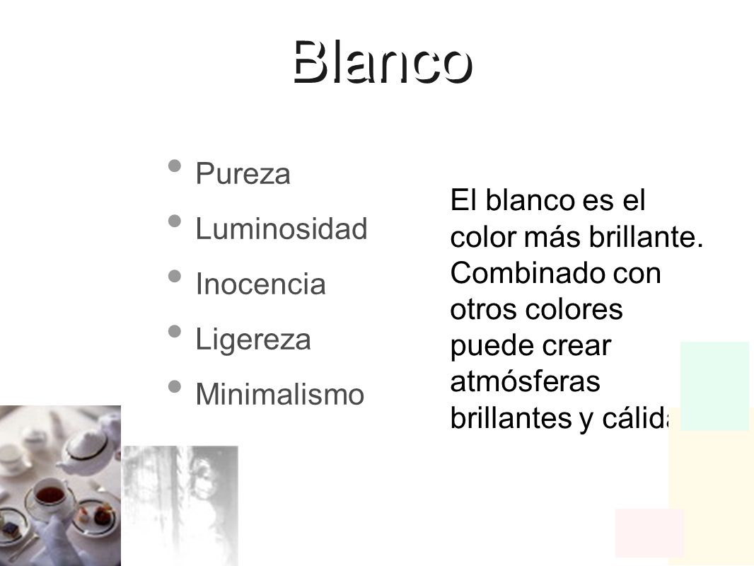 Blanco Pureza Luminosidad