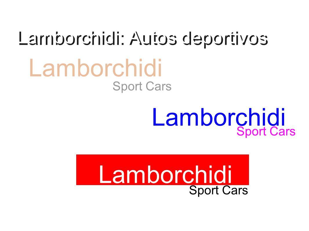 Lamborchidi: Autos deportivos