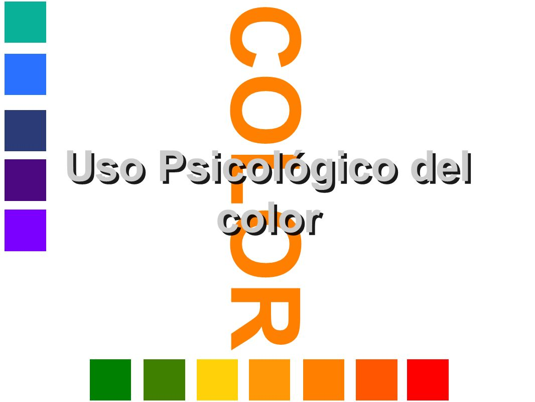 Uso Psicológico del color