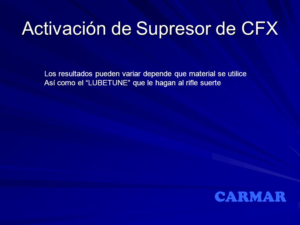 Activación de Supresor de CFX