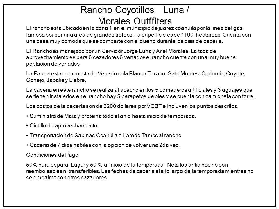 Rancho Coyotillos Luna / Morales Outffiters