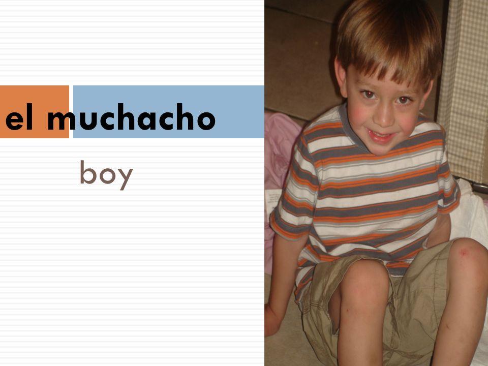 el muchacho boy