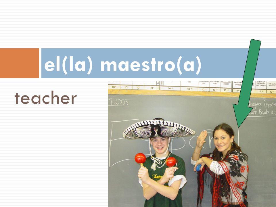 el(la) maestro(a) teacher