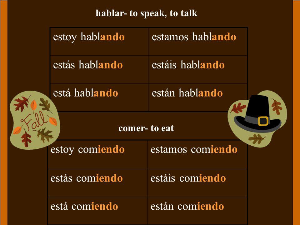 hablar- to speak, to talk