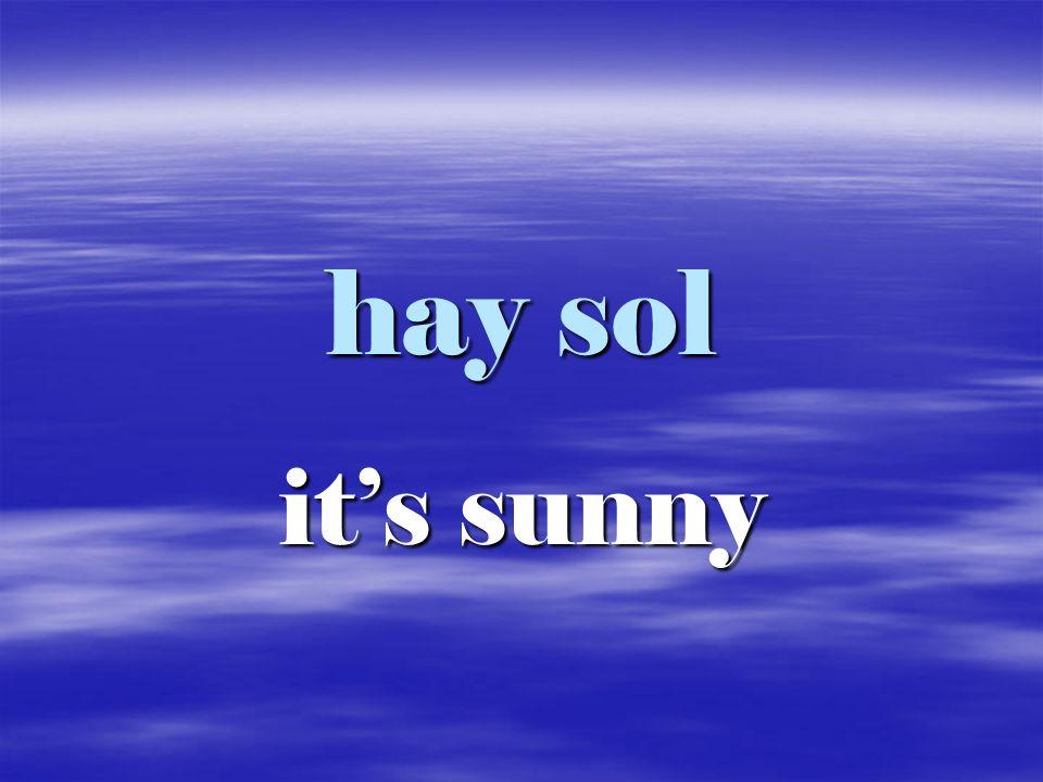 hay sol it's sunny