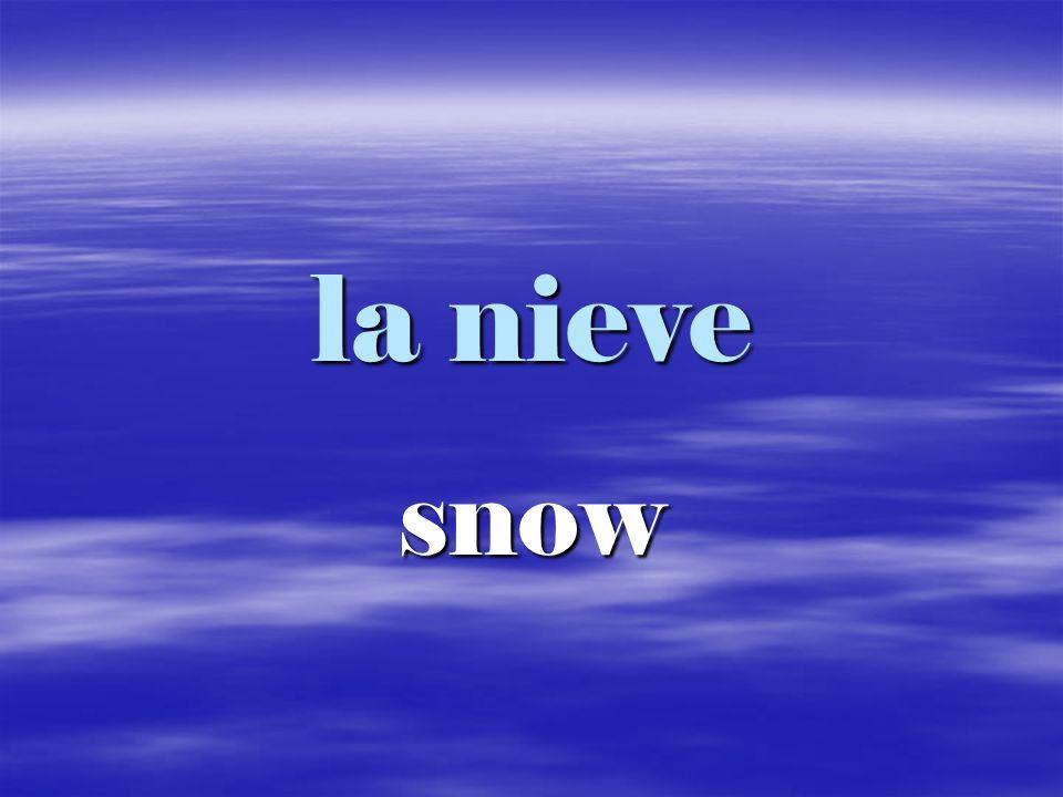 la nieve snow