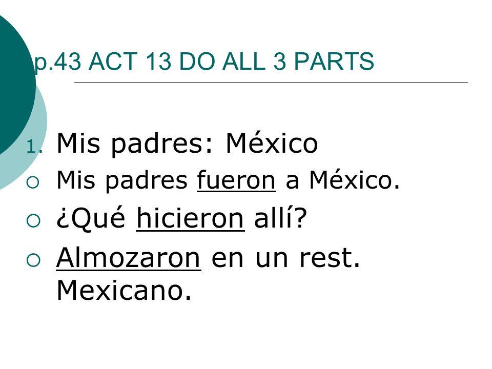 Almozaron en un rest. Mexicano.