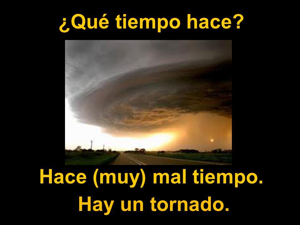 ¿Qué tiempo hace Hace (muy) mal tiempo. Hay un tornado.