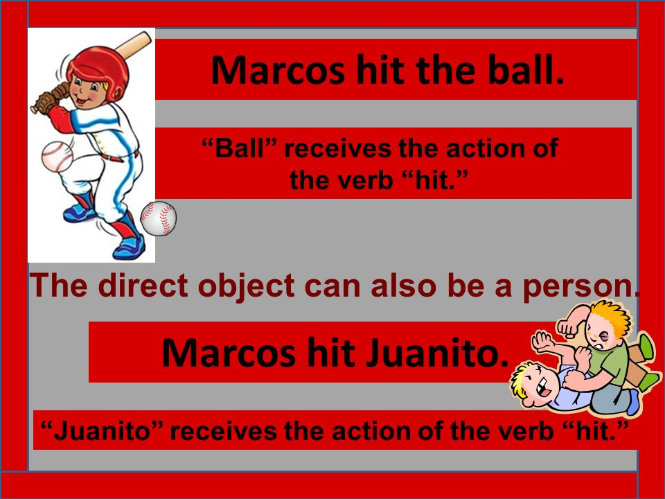 Ball receives the action of